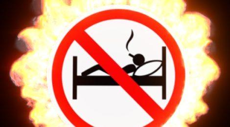 Неосторожность при курении